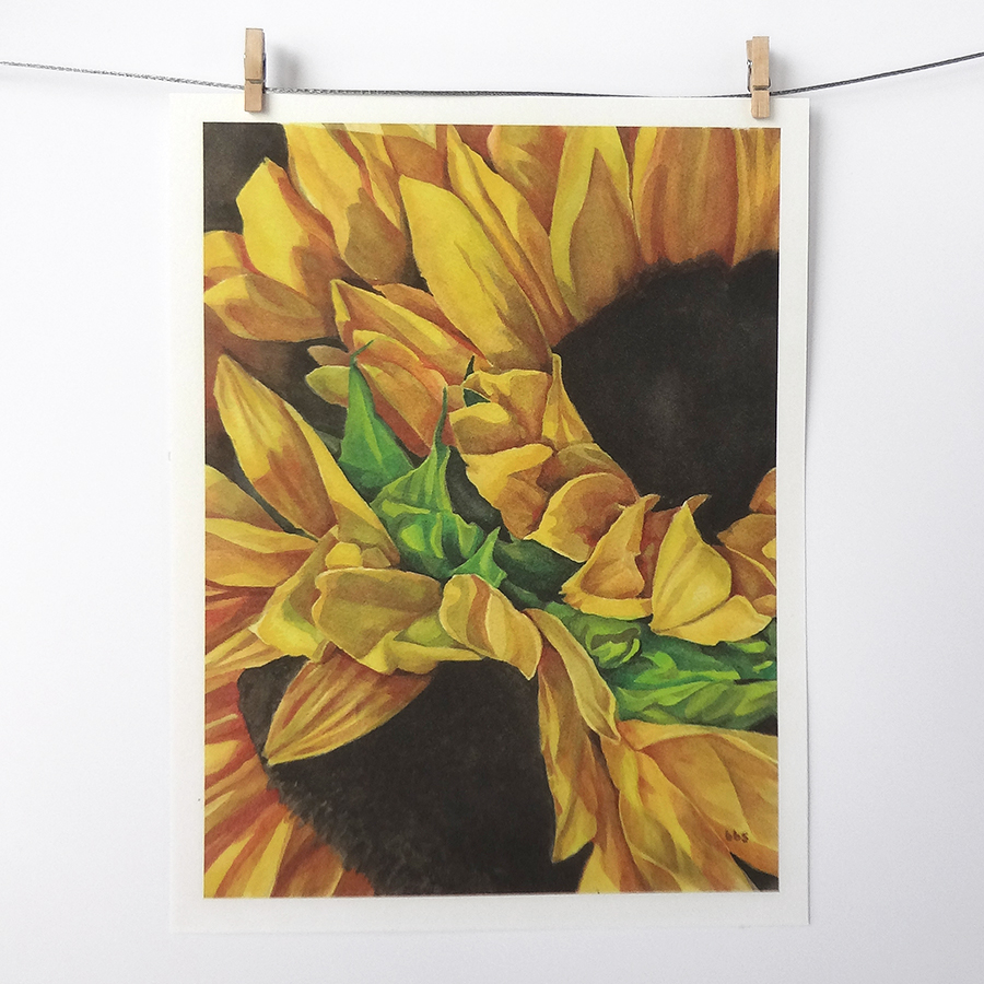sunflower-art-print
